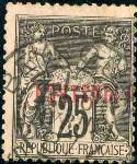 Französiche Post in der Levante 1886