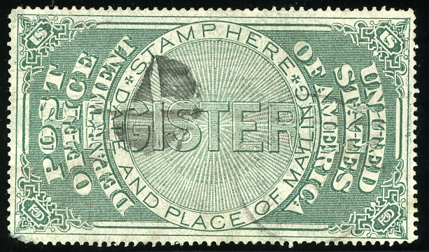 x Post Office Registry Seal 1872