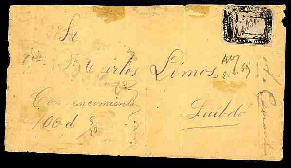 Colombian state: Cauca 1879