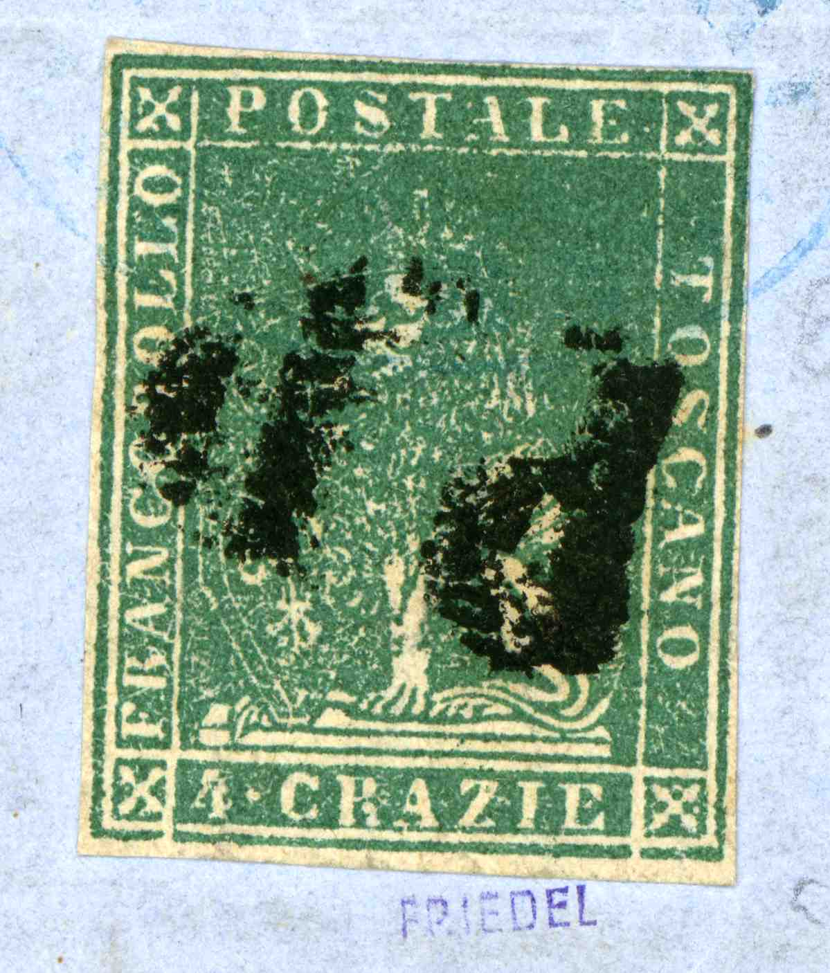 Large scan of stamp