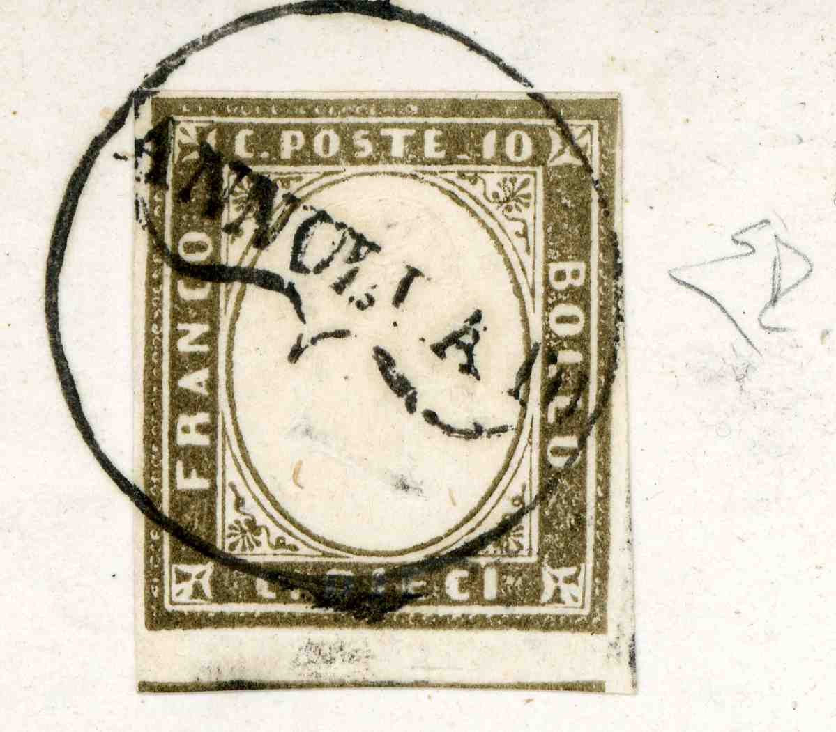 Large scan of  stamps