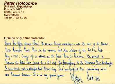certificate Holcombe